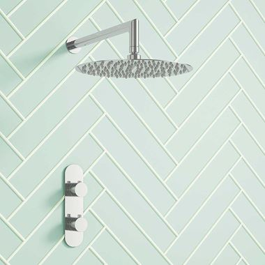 Jennifer Concealed Thermostatic Shower Valve & Fixed Shower Head