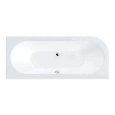 Drench Joanna Straight Double Ended White Acrylic Bath & Front Panel - 1650 X 725mm