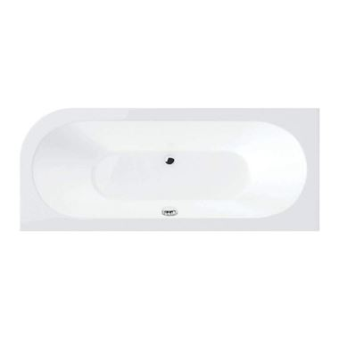 Drench Joanna Straight Double Ended White Acrylic Bath & Front Panel - 1650 X 725mm - Left Hand
