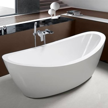 Kirsty Acrylic White Freestanding Bath - 1800 x 850mm