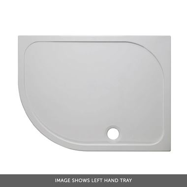 Crosswater 45mm Offset Quadrant Stone Resin Shower Tray - 1200x900mm (Left Hand)