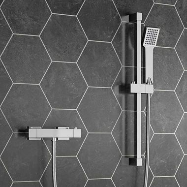 Leon Thermostatic Bar Shower Valve & Slide Rail Kit