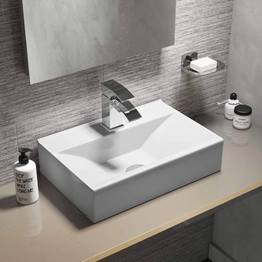 Lexie 450mm Rectangular Wall Hung or Countertop Basin