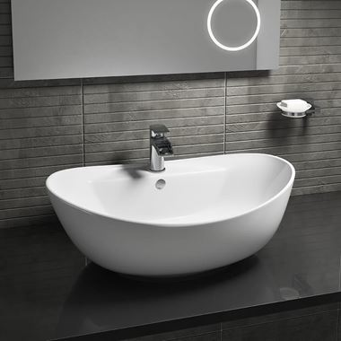 Drench Lexie Oval 587mm Countertop Basin - One Tap Hole