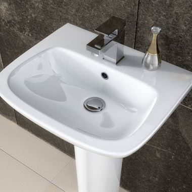 Lola 500mm Semi Pedestal & Basin