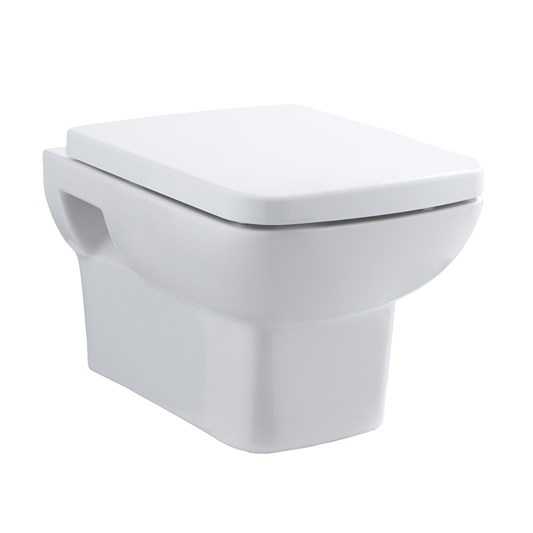 Lola Wall Hung Toilet & Soft Close Seat - 525mm Projection