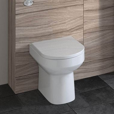 Lorraine Back to Wall Toilet & Soft Close Seat - 530mm Projection