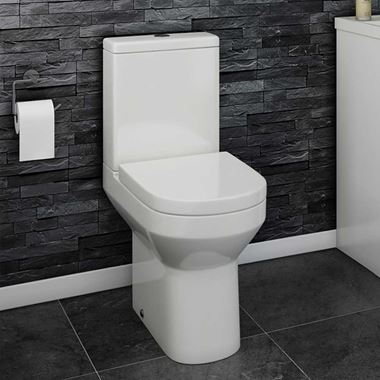 Lorraine Comfort Height Toilet & Soft Close Seat - 655mm Projection