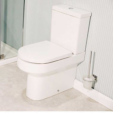 Lorraine Fully Back to Wall Toilet & Soft Close Seat - 650mm Projection