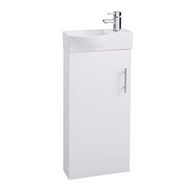 Maisie 400mm Cloakroom Vanity Unit with Oversized Basin - White Gloss