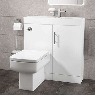 Maisie Compact Combined Basin & Toilet Unit - 800mm