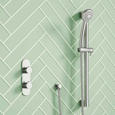 Marcos Concealed Thermostatic Shower Valve & Slide Rail Kit