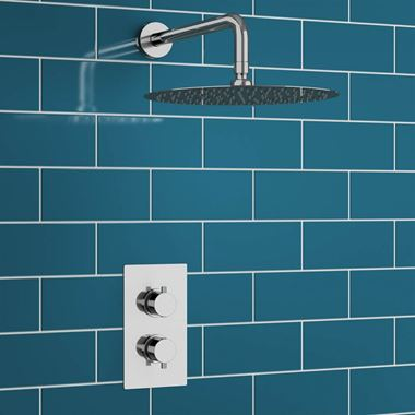 Melanie Concealed Shower Valve & Fixed Shower Head
