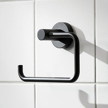 Miller Bond Black Open Toilet Roll Holder