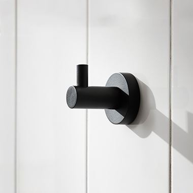 Miller Bond Black Single Robe Hook
