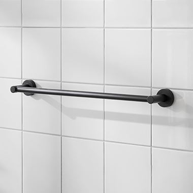 Miller Bond Black Towel Rail - 498mm