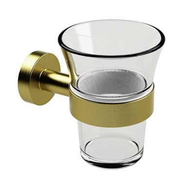 Miller Bond Tumbler Holder - Brushed Brass