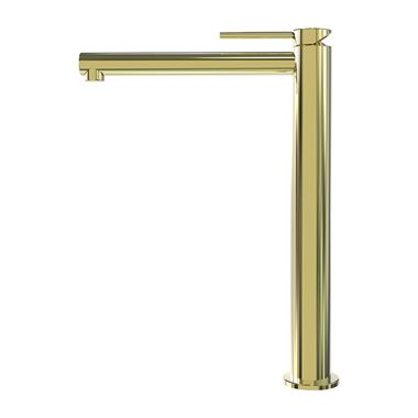 Miller Polished Brass Tall Mono Basin Mixer with Free Flow Waste