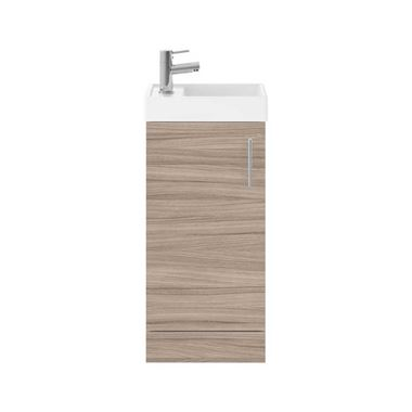 Minnie 400mm Floorstanding Cloakroom Vanity Unit & Basin - Driftwood