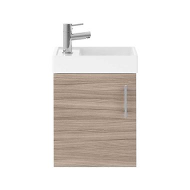Minnie 400mm Wall Mounted Cloakroom Vanity Unit & Basin - Driftwood
