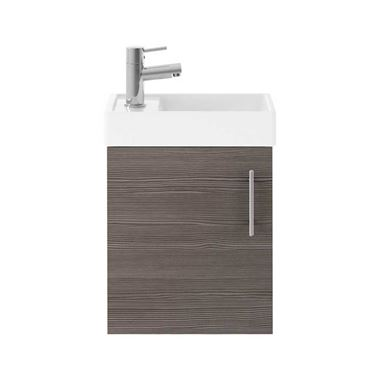 Minnie 400mm Wall Mounted Cloakroom Vanity Unit & Basin - Grey Avola
