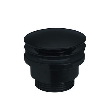 Crosswater MPRO Unslotted Basin Click Clack Waste - Matt Black