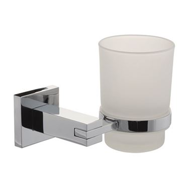 Pierre Frosted Glass Tumbler & Holder