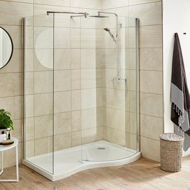 Harbour Primrose 6mm Curved Walk in Shower Enclosure