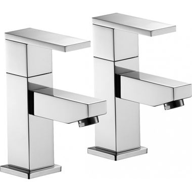 Pura Bloque Basin Pillar Taps - Pair