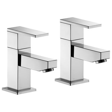 Pura Bloque Bath Pillar Taps - Pair