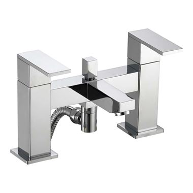 Pura Bloque Bath Shower Mixer Tap with Shower Kit