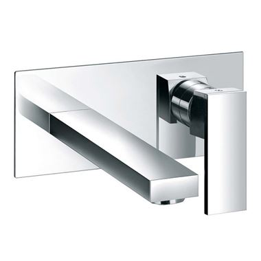 Pura Bloque Wall Mounted Basin Mixer Tap with Waste