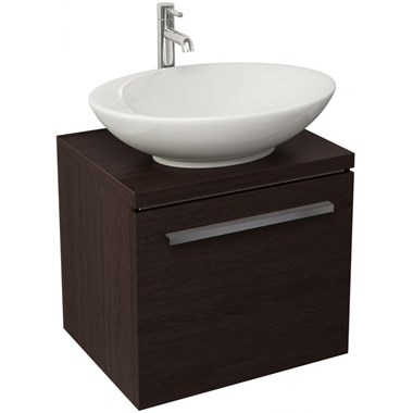 Pura Bloque Wenge Wall Hung Vanity Unit - 470mm