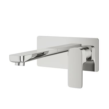 Pura Flite Wall Mounted Basin Mixer Tap with Waste