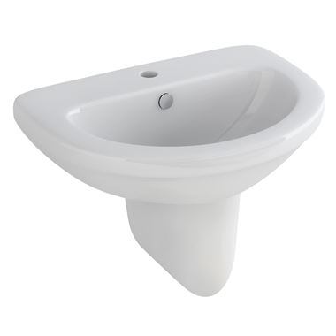 Pura Ivo 560mm Semi Pedestal Basin