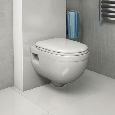 Pura Ivo Wall Hung Toilet & Seat - 500mm Projection