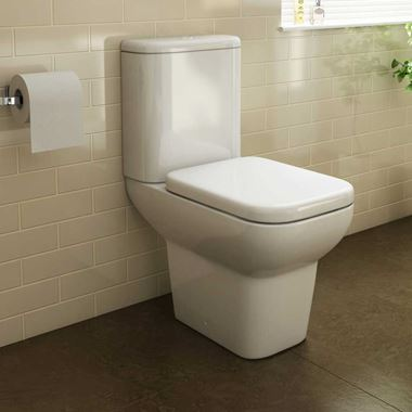 Pura Urban Close Coupled Toilet with Luxury Seat - 620mm Projection