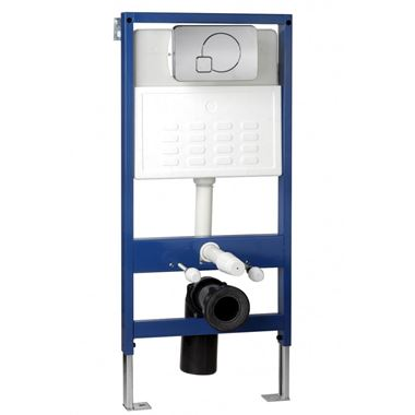 Pura Wall Hung Toilet Frame System with Front Mounted Dual Flush Plate