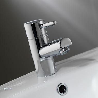 Pura Xcite Basin Mixer Tap with Waste