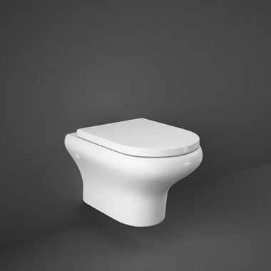 RAK Compact Wall Hung Rimless Toilet with Soft Close Seat - 520mm Projection