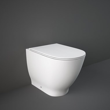 RAK Harmony-Moon Back to Wall Rimless Toilet with Soft Close Seat - 560mm Projection