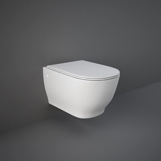RAK Harmony Wall Hung Toilet & Soft Close Seat - 560mm Projection