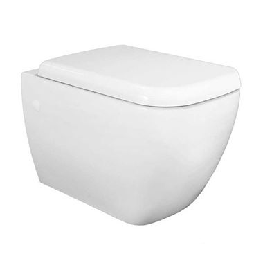 RAK Metropolitan Wall Hung Toilet & Soft Close Seat - 525mm Projection