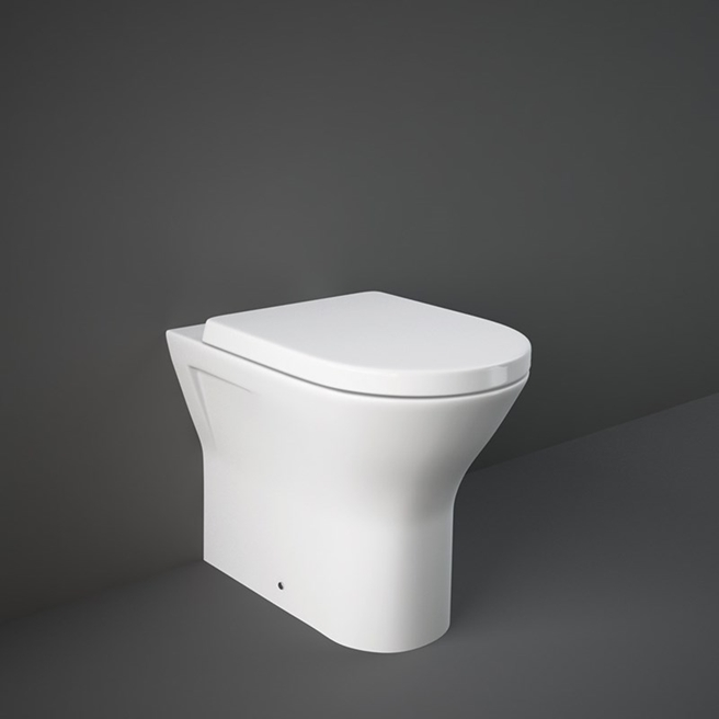 RAK Resort Back to Wall Rimless Toilet with Soft Close Seat - 550mm Projection