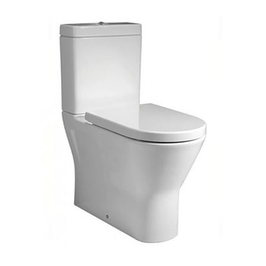 RAK Resort Mini Rimless Fully Back to Wall Toilet & Soft Close Seat - 600mm Projection