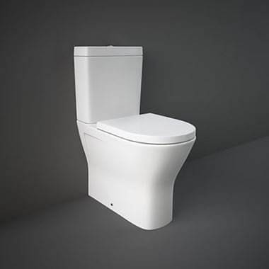 Rak Resort Maxi Comfort Height Rimless Fully Back to Wall Toilet & Seat - 665mm Projection