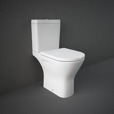 Rak Resort Maxi Comfort Height Rimless Toilet & Seat - 665mm Projection