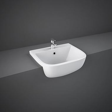 RAK Series 600 Semi Recessed Basin - 420mm