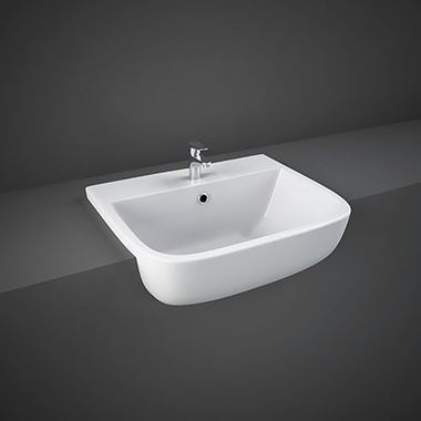 RAK Series 600 Semi Recessed Basin 520mm - 1 Tap Hole