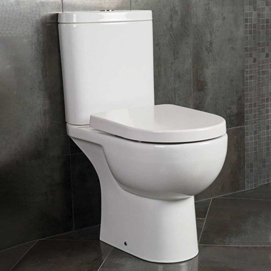 Rak Tonique Close Coupled Toilet & Soft Close Seat - 625mm Projection